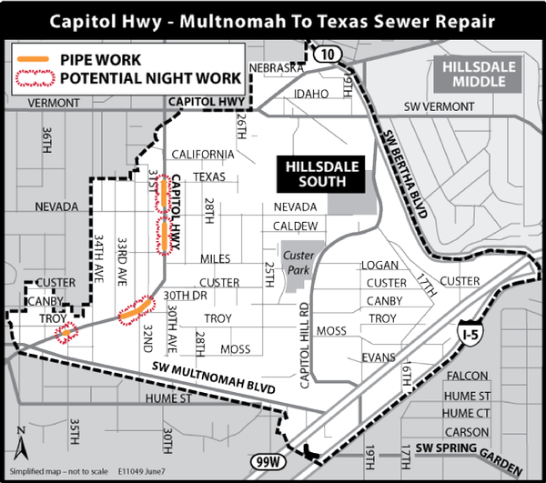 Current Construction Map