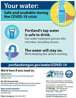 Your water: safe and available during the COVID-19 crisis