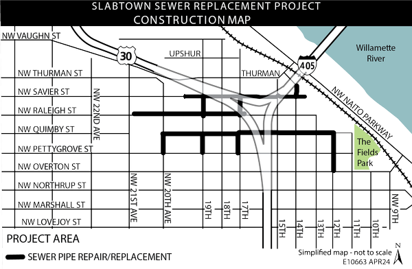 Current Slabtown Construction Map