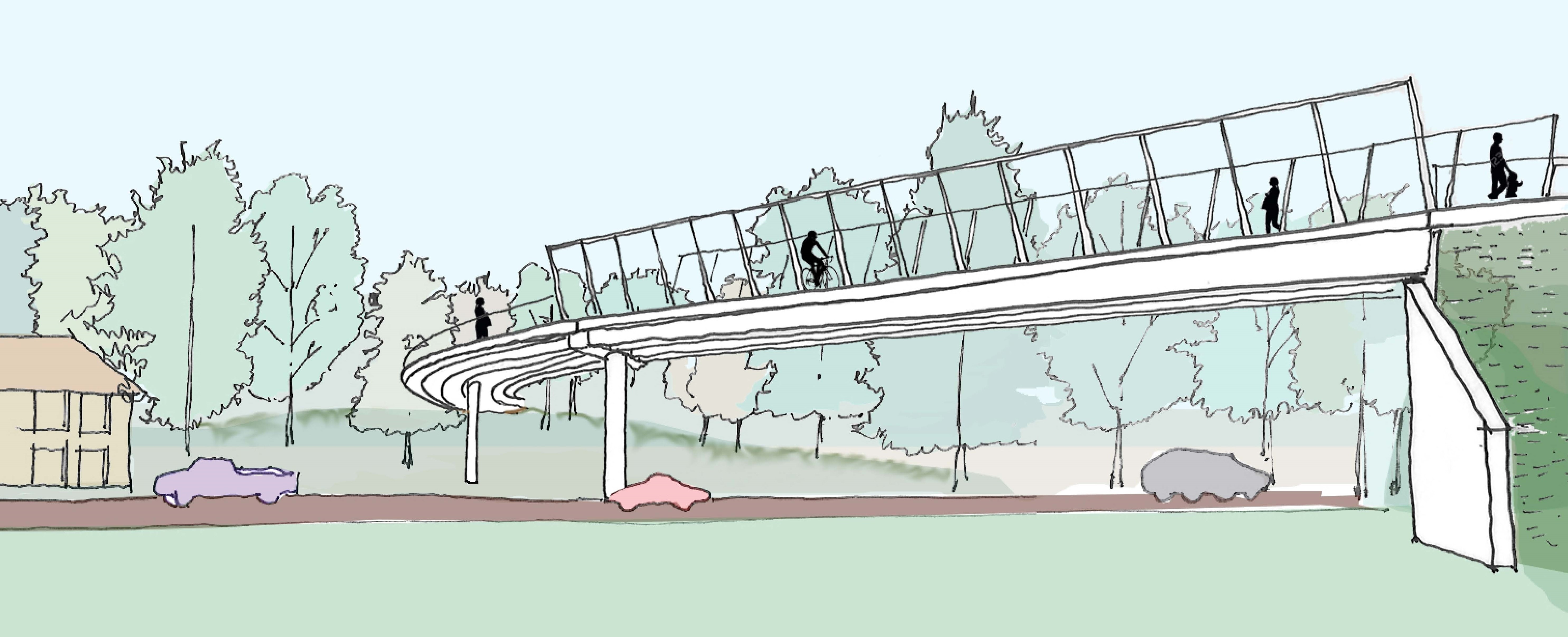 Proposed bridge rendering