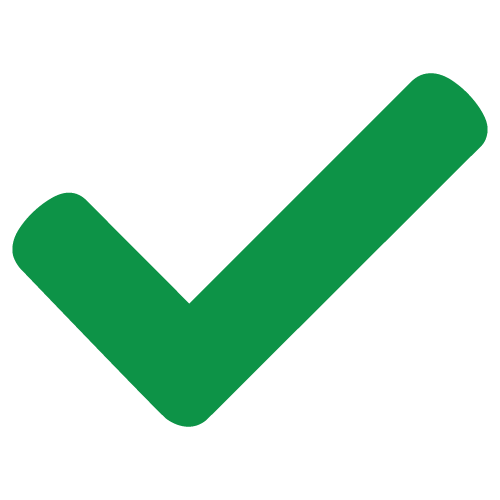 Green check mark to signify an asset is open