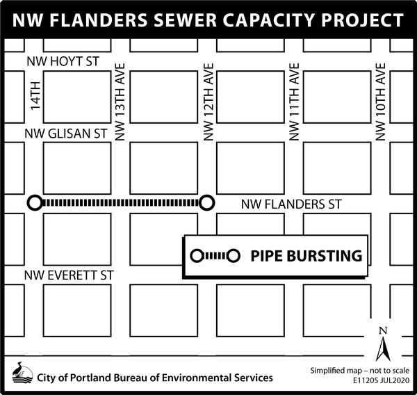NW Flanders Sewer Capacity Project Map
