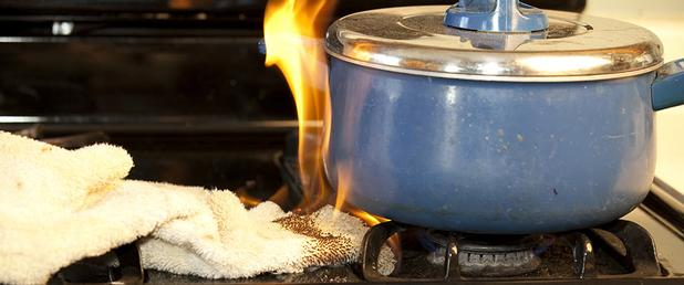 unattended cooking can lead to a kitchen fire