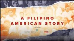 screencap of video that says A Filipino American Story