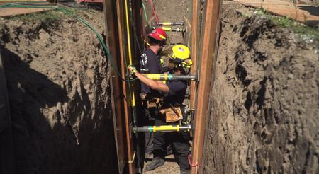 trench rescue team training