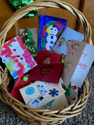 Home-made holiday cards